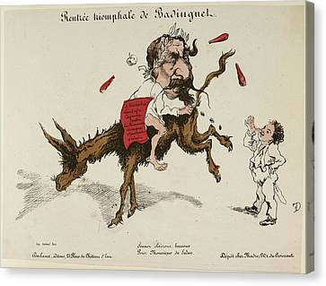 Pour Canvas Print - French Caricature by British Library