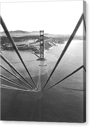 Golden Gate Bridge Work Canvas Print