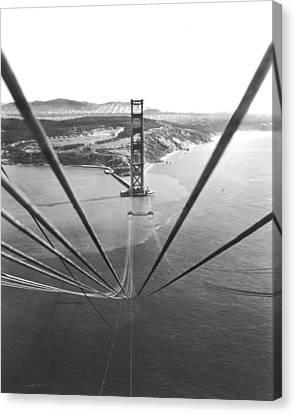 Built Canvas Print - Golden Gate Bridge Work by Underwood Archives