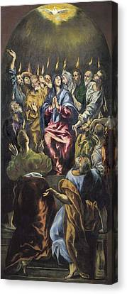 Pentecost Canvas Print - Greco, Dom�nikos Theotok�poulos, Called by Everett