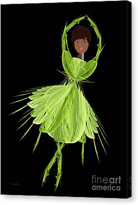 9 Green Ballerina Canvas Print by Andee Design
