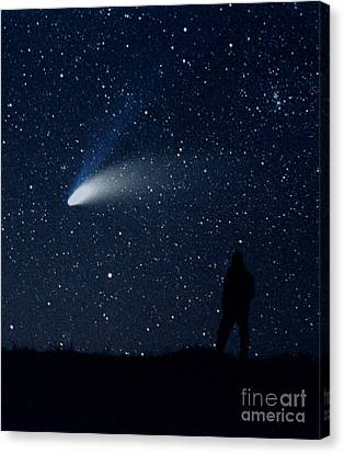 Hale-bopp Comet Canvas Print by John Chumack