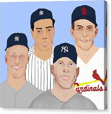 9-inning Legends Canvas Print by Pharris Art