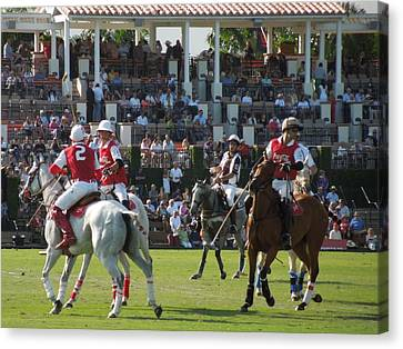 On Line Art Galleries Canvas Print - International Polo Club by Ron Davidson