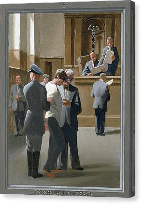 9. Jesus Before The Magistrate / From The Passion Of Christ - A Gay Vision Canvas Print by Douglas Blanchard
