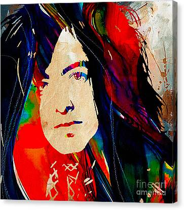 Page Canvas Print - Jimmy Page Collection by Marvin Blaine