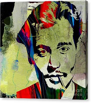 Johnny Depp Canvas Print by Marvin Blaine