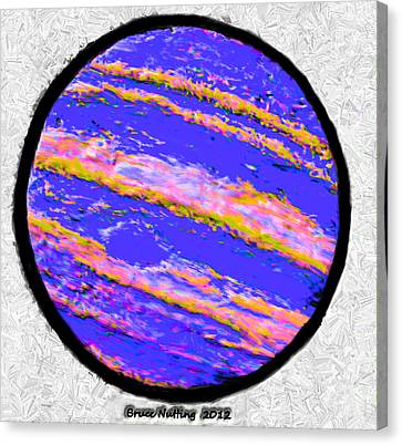 Jupiter In Many Colors Canvas Print