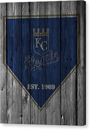 Baseball Fields Canvas Print - Kansas City Royals by Joe Hamilton