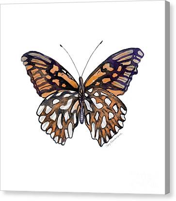 9 Mexican Silver Spot Butterfly Canvas Print by Amy Kirkpatrick