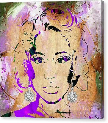 Lil Wayne Art Canvas Print - Nicki Minaj Diamond Earring Collection by Marvin Blaine