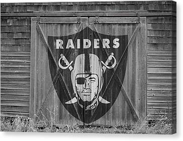 Oakland Raiders Canvas Print by Joe Hamilton