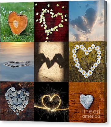 9 Of Hearts Canvas Print by Tim Gainey