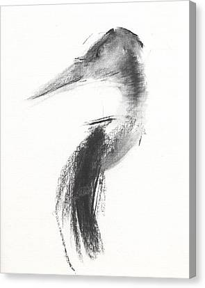 Heron Canvas Print - Rcnpaintings.com by Chris N Rohrbach
