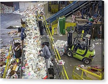 Recycling Plant Canvas Print by Jim West