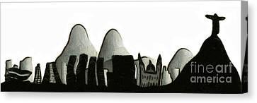 Rio De Janeiro Skyline Canvas Print by Michal Boubin