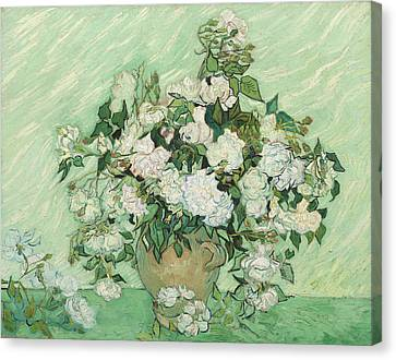Roses Canvas Print by Vincent van Gogh