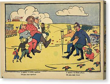 Russian Posters Of World War I Canvas Print
