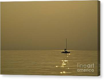 Sailing Boat Canvas Print by Mats Silvan