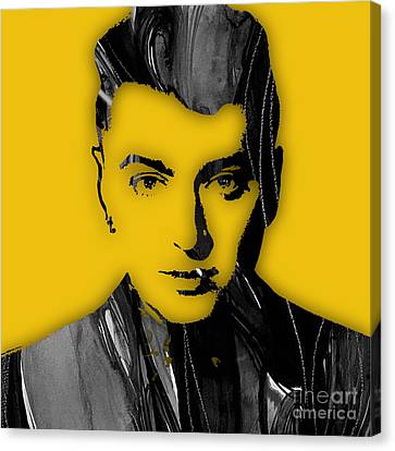Celebrity Canvas Print - Sam Smith Collection by Marvin Blaine