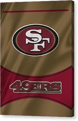 San Francisco 49ers Uniform Canvas Print by Joe Hamilton
