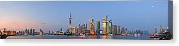 Shanghai Cityscape Canvas Print
