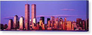 Skyscrapers In A City, Manhattan, New Canvas Print by Panoramic Images