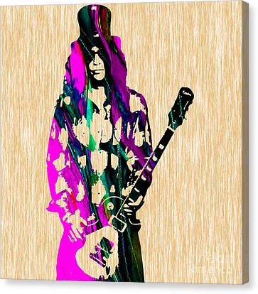 Guitarist Canvas Print - Slash by Marvin Blaine