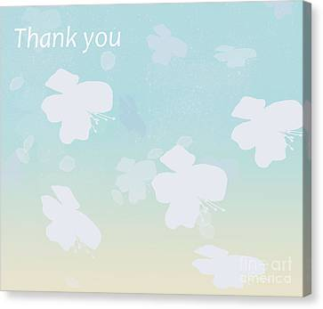 Thank You Canvas Print by Trilby Cole