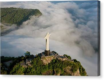 The Art Deco Statue Of Jesus, Known Canvas Print by Peter Adams