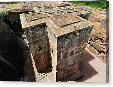 The Rock-hewn Churches Of Lalibela Canvas Print by Martin Zwick