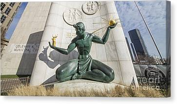 Wrapped Canvas Print - The Spirit Of Detroit by Twenty Two North Photography