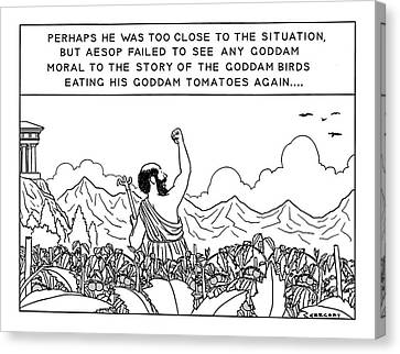 Perhaps He Was Too Close To The Situation Canvas Print
