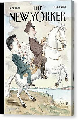 New Yorker October 1st, 2012 Canvas Print by Barry Blitt