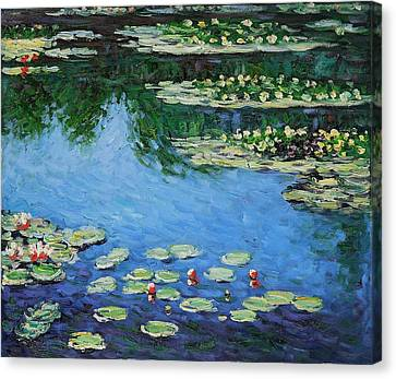 Canvas Print featuring the painting Water Lilies  by Claude Monet