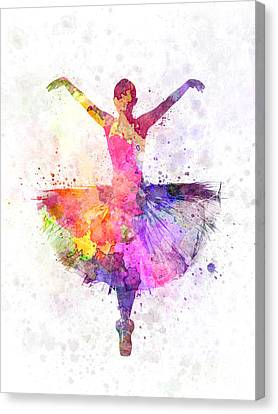 Ballet Dancers Canvas Print - Woman Ballerina Ballet Dancer Dancing by Pablo Romero
