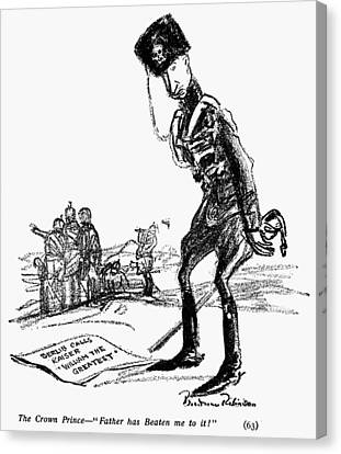 World War I Cartoon, 1914 Canvas Print