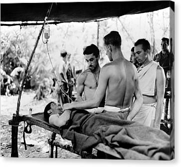 Canvas Print featuring the photograph World War II New Guinea by Granger