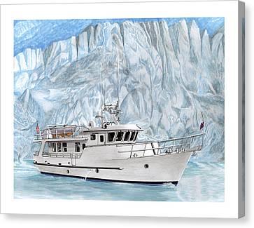 65 Foot World Cruising Yacht Canvas Print by Jack Pumphrey