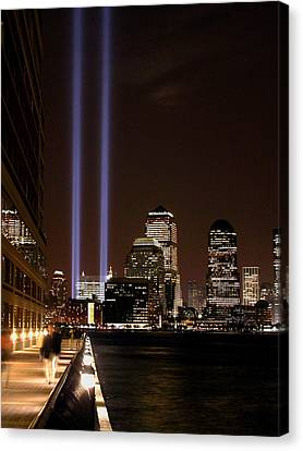 Canvas Print featuring the photograph 911 Anniversary by Gary Slawsky