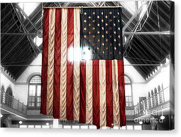 911 Flag Canvas Print by John Rizzuto