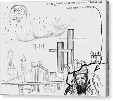 911 New York City Canvas Print by Janos Kurz