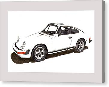 911 White On White 1978 Porsche Canvas Print by Jack Pumphrey