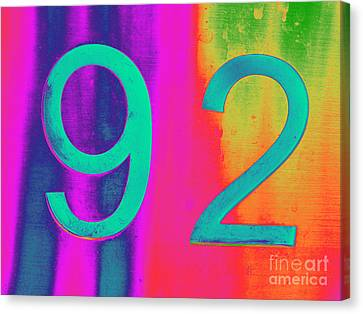 92 Canvas Print