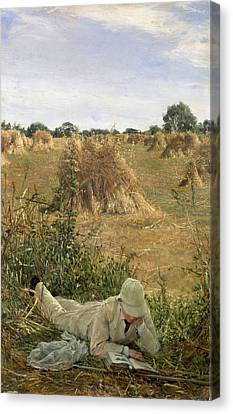Meules Canvas Print - 94 Degrees In The Shade, 1876 by Sir Lawrence Alma-Tadema