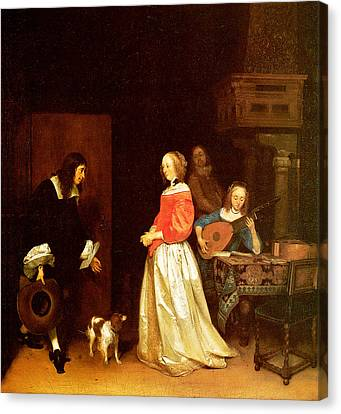 The Suitors Visit Canvas Print by Gerard Terborch