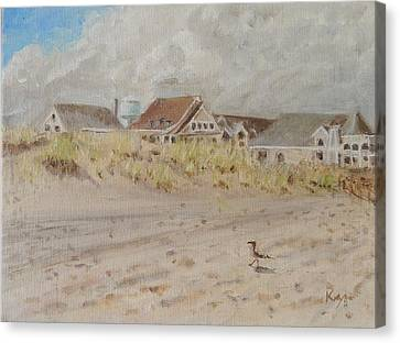 98th Street Beach Stone Harbor New Jersey Canvas Print by Patty Kay Hall
