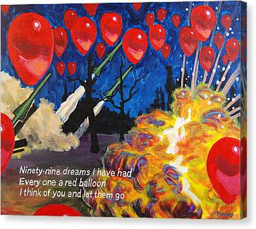 99 Red Balloons Canvas Print