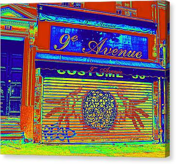 Canvas Print featuring the photograph 9th Avenue by Rosemarie Hakim