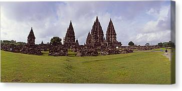 9th Century Hindu Temple Prambanan Canvas Print by Panoramic Images